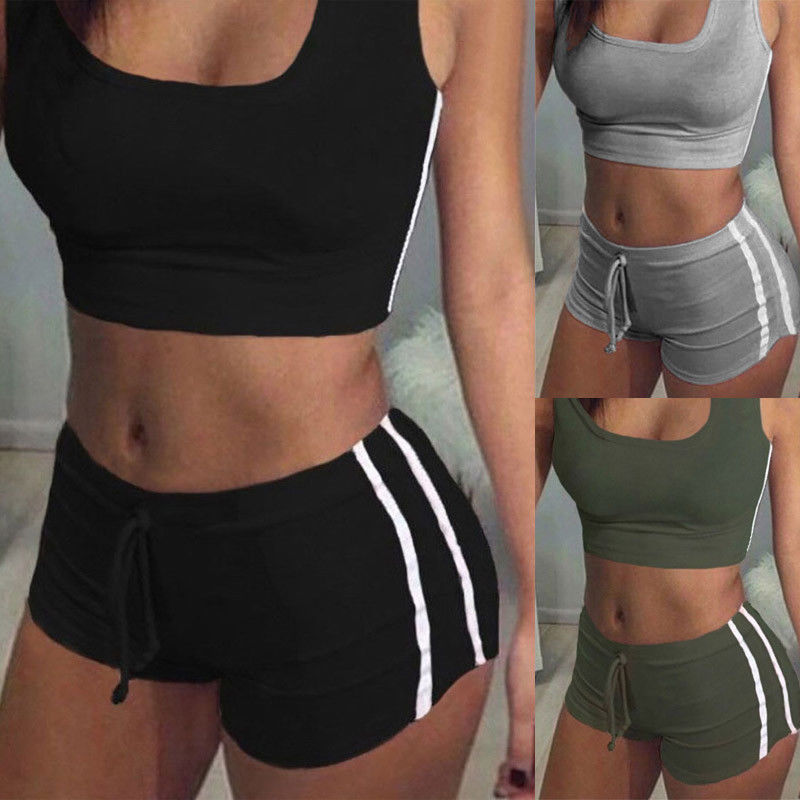 Summer Gym Women Fitness Sport Bra Crop Tank Top Breathable Vest Shorts Pant Running Clothes Set Hot Pants Tracksuit Outfits Buy At The Price Of 6 27 In Aliexpress Com Imall Com