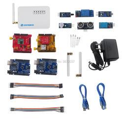 DIYmall dla Dragino dla LoRa IoT zestaw deweloperski 915MHz 868MHz 433MHz LG01 P LoRa Gateway GPS tarcza|Moduły automatyki domowej|Elektronika użytkowa -