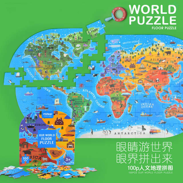 US $33.59  76*40CM Children World Map Puzzle Earth Puzzle Kids Early  Educational DIY Toy World Map Jigsaw Puzzle Toy Best Gift for Child-in  Puzzles ...
