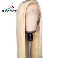 Sunnymay 613 парик предварительно сорвал полный кружево человеческие волосы парик с ребенком волос 130% Glueless волосы remy блондинка полный кружево ис