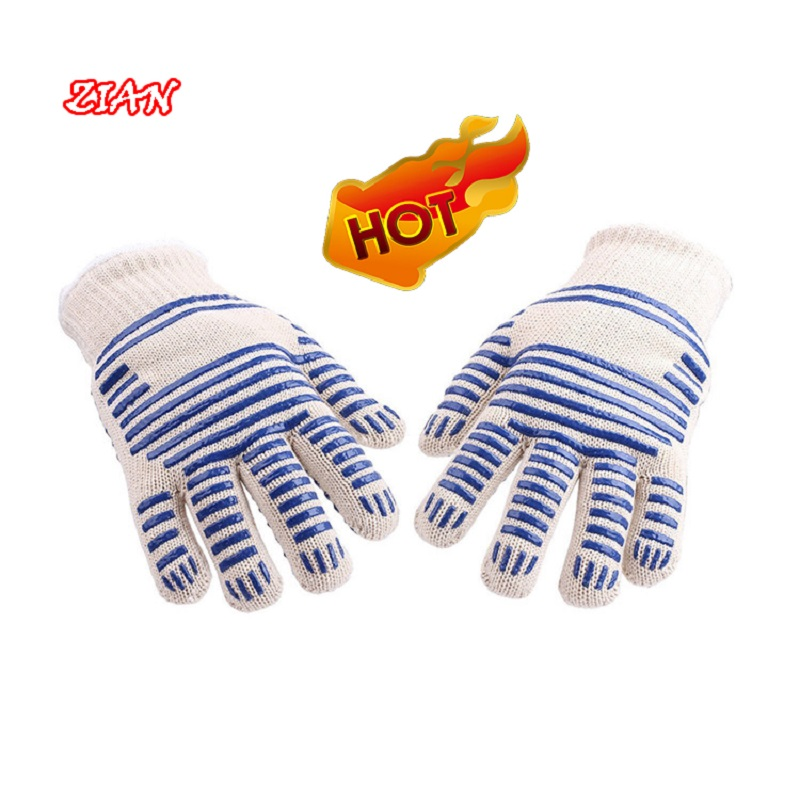 Kitchen Work Gloves White 500 Degrees High Temperature Resistance Industrial Anti-skid Cutting Can Used On Both SidesKitchen Work Gloves White 500 Degrees High Temperature Resistance Industrial Anti-skid Cutting Can Used On Both Sides