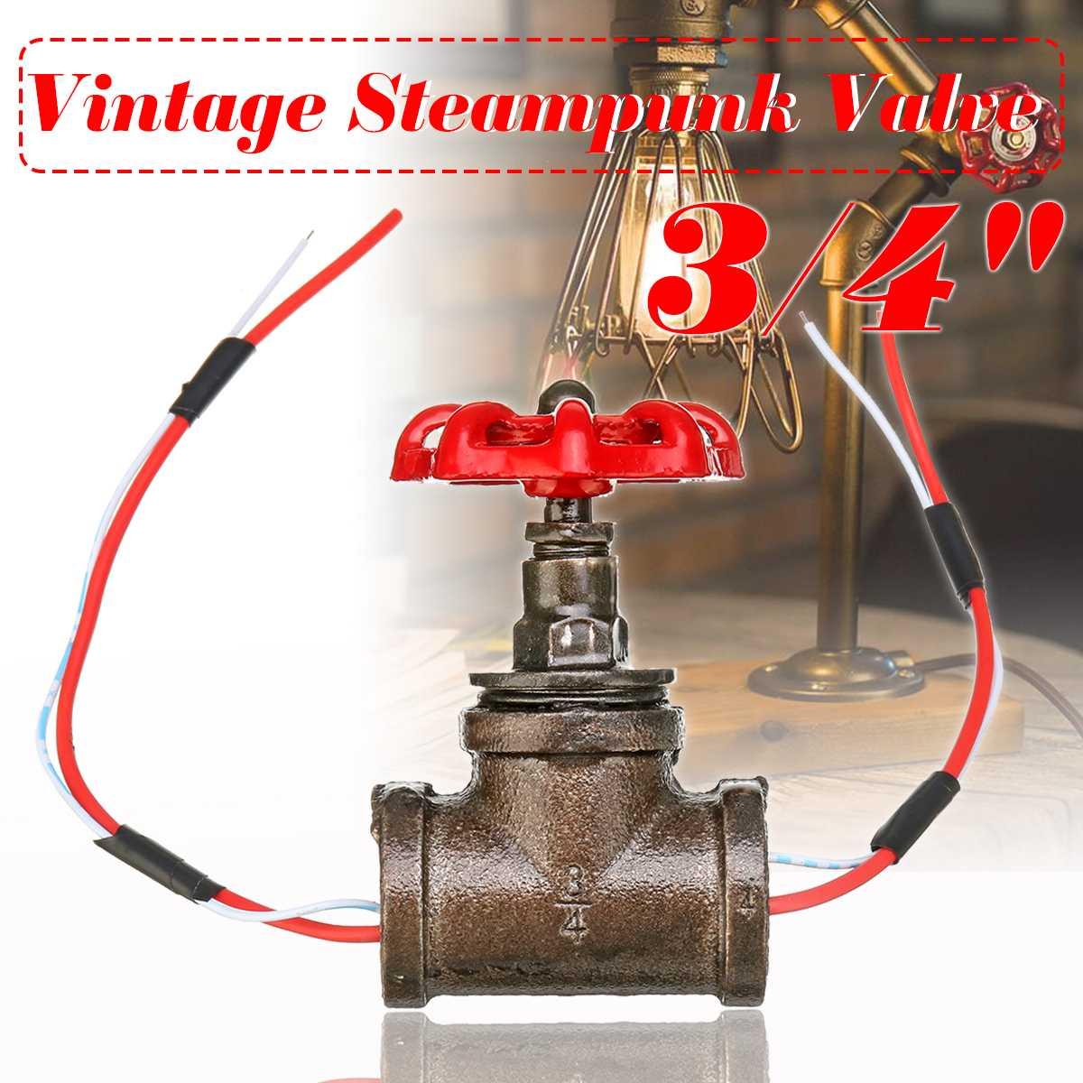 Su borusu armatürleri aydınlatma endüstriyel lamba Stop vanası ışık anahtarı lamba Loft tarzı demir vana klasik masa lambası