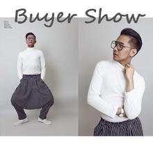 INCERUN Japan style S-5XL Cross-Spodnie Mężczyźni nieregularne paski patchwork harem Spodnie Mężczyźni spodnie duży męski Drop crotch Plus taniec tanie tanio Mężczyzn Pełna długość Spodnie do kostki Elastyczna talia Mężczyźni harem hip hop spodnie duży rozmiar 5XL Połowie