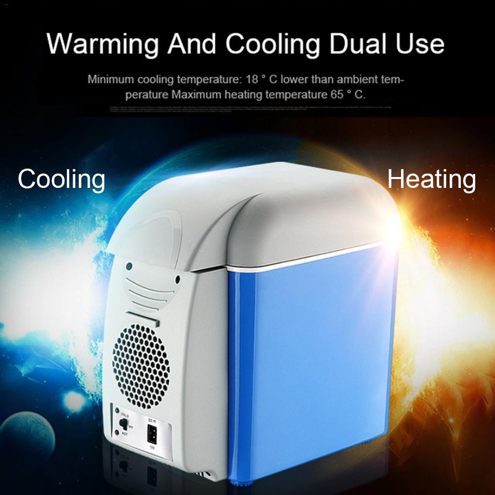 7.5L Mini Portable Cooling Warming Refrigerators Fridge Freezer Cooler Travel Warmer for Auto Car Home Office Outdoor Picnic