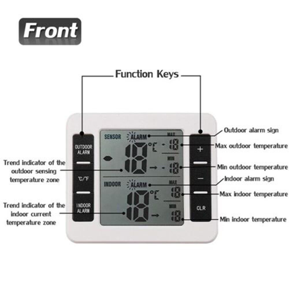 Купить Светодиодный цифровой термометр сигнализации ...