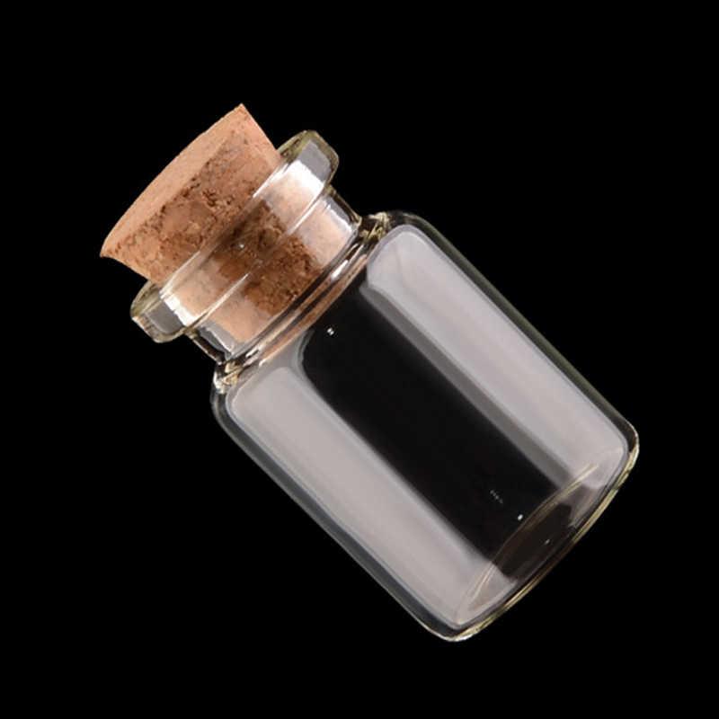 ข้อความขวด Mini 1 ชิ้น Mason Jar ภาชนะตกแต่ง Cork Stopper เครื่องประดับ DIY คุณภาพสูงราคาถูกขวดขวดแก้วขนาดเล็ก