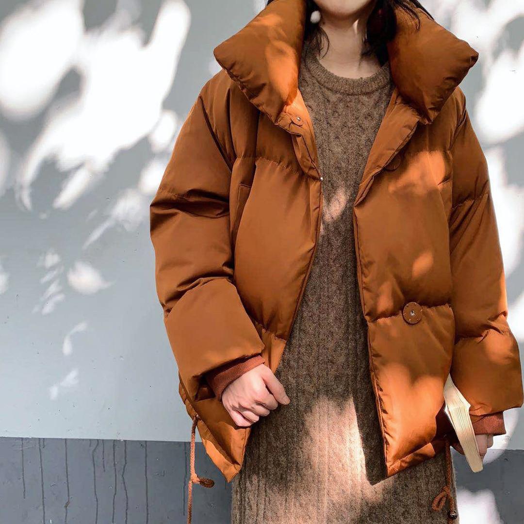 Bas Femmes Vêtements Le De Manteau Pain Coton Color Coton rembourré caramel D'hiver 2018 Black 1020 Meter Vers Veste temps Chaud Mode Lâche apricot glaze Green AXXdq