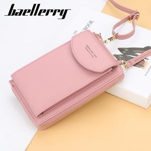 Baellerry 2020 Women Wallet Brand Cell Phone Wallet Big Card Holders Wallet Handbag Purse Clutch Messenger Shoulder Straps Bag(China)