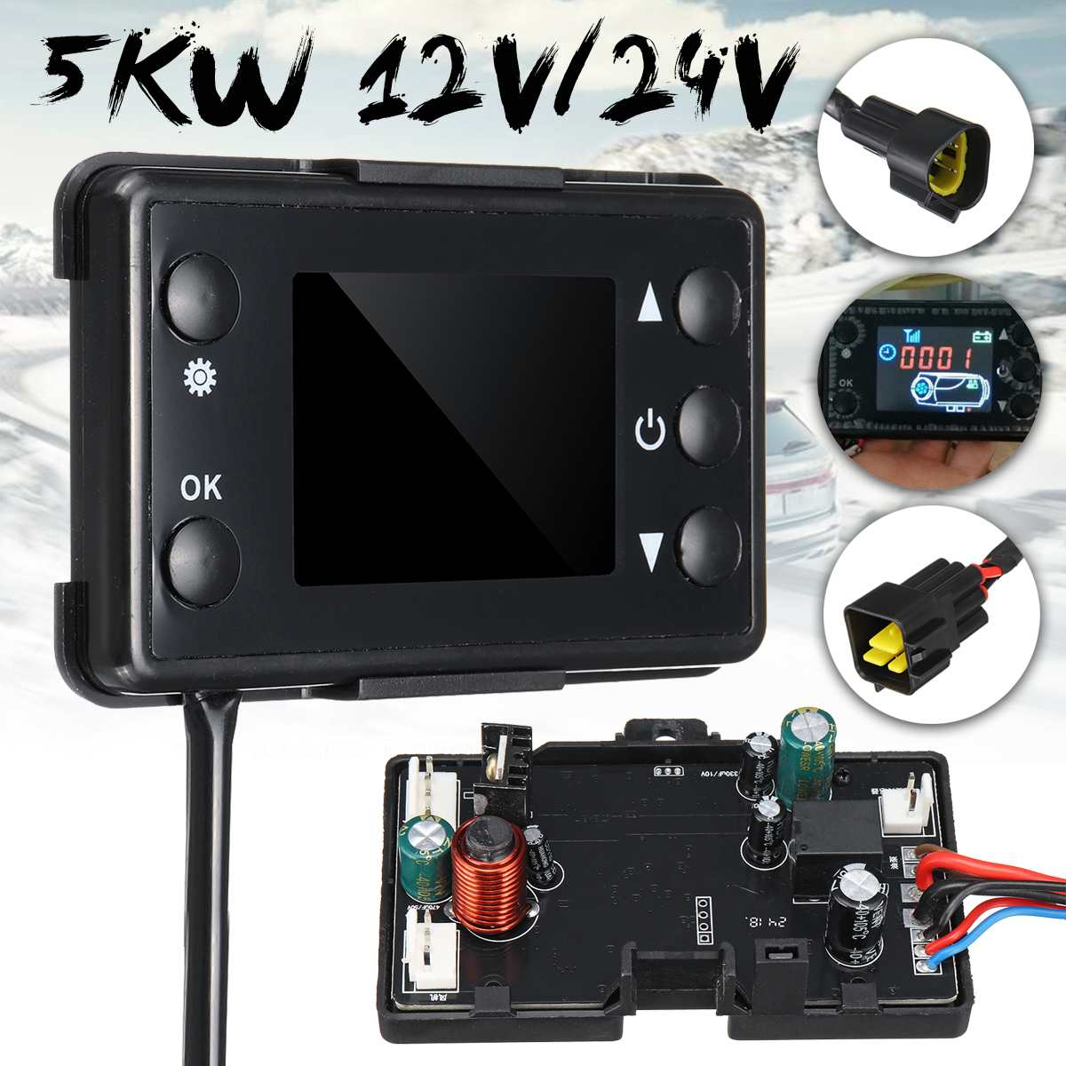 LCD Car Switch Heater Controller Board for Car Track Auto Heater Parts Motherboard for Diesel Air