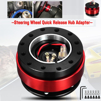 Quick Release Steering Wheel Hub Boss Ball Lock Bearing 6 Holes Snap Off Durable