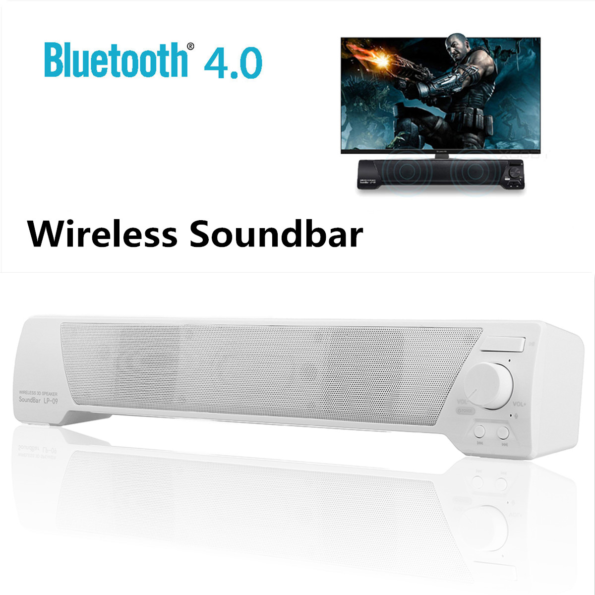 Leory Bluetooth Soundbar Wireless Bluetooth Speaker Bass Portable Hifi 3d Stereo Surround Subwoofer Hifi Aux Tf Usb A Complete Range Of Specifications