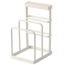 Ferro forjado ferramenta de cozinha faca rack de armazenamento rack de drenagem cozinha placa de corte rack de armazenamento vertical titular ferramenta