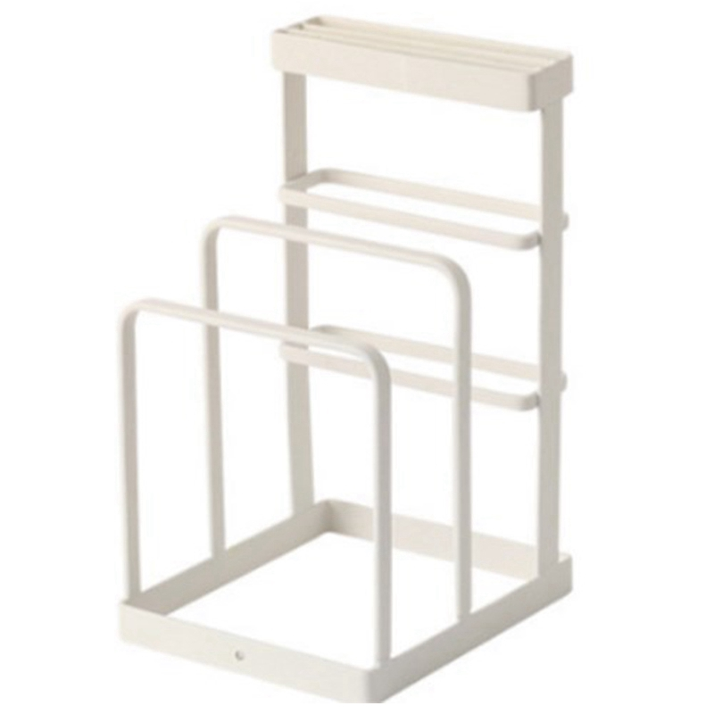 Wrought Iron Kitchen Tool Knife Storage Rack Drain Rack Kitchen Cutting Board Storage Rack Vertical Tool Holder-in Racks & Holders from Home & Garden