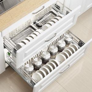 Image 5 - Armario spiżarnia Rangement Organizer i Despensa Gabinete ze stali nierdzewnej Cozinha kuchnia stojak kuchnia do przechowywania w szafce kosz
