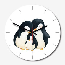 New 3D Wall Clock Nordic Penguin Acrylic Duvar Saati 28cm Modern Design For Home Watch Decoration Dropshipping