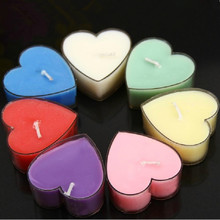 9 PCS Romantic Heart-Shape Scented Candle Incense Candle Birthday Wedding Party Decoration