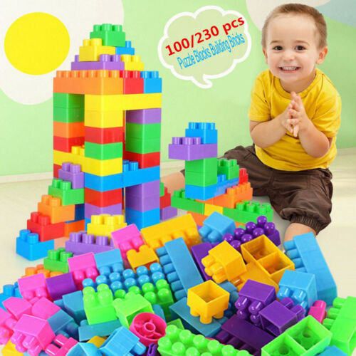 Funny Plastic 100Pcs Building Blocks City DIY Creative Bricks Educational Toy Gift For Child D Interconnecting Blocks