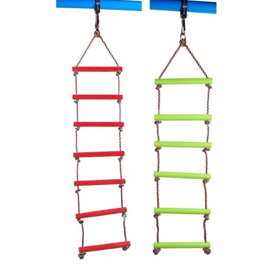 2 pièces 5 + 6 étapes escalade corde échelle intérieur extérieur jeux jouets Playhouse jardin balançoire pour enfants enfants