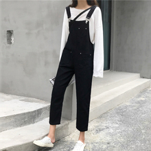 2019 Spring New Casual Straight Denim Jumpsuits Women Vintage Sleeveless Jeans Jumpsuit Loose Rompers Solid Overalls