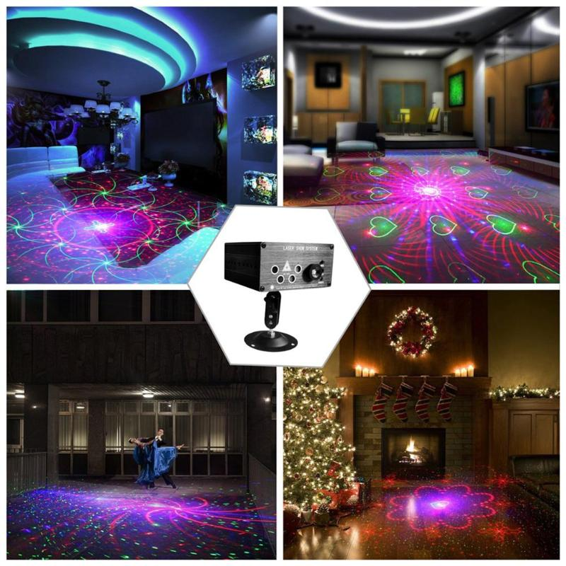 5 Holes 120 Patterns RGB Laser Light DJ Laser Stage Light Projector LED Stage Effect Lighting for Disco Light Xmas Party5 Holes 120 Patterns RGB Laser Light DJ Laser Stage Light Projector LED Stage Effect Lighting for Disco Light Xmas Party