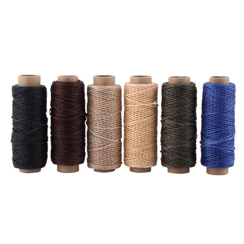 New 1pc Waxed Sewing Thread for Leather Shoes Hand Stitching Crafts 150D 50m Waxed Handicraft Leather Products Waxed Thread Cord