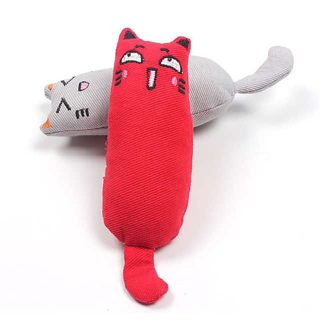 Cat Grinding Catnip Toys Funny Interactive Plush Toy Pet Kitten Chewing Claws Thumb Bite Mint For Cats Teeth 1