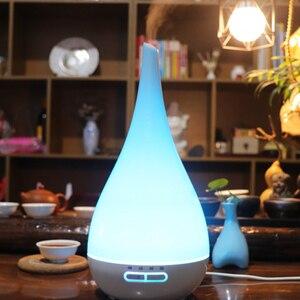 Image 5 - Diffuseur dhuile essentielle et darôme et humidificateur dair de 400ml, brumisateur ultrasonique, 7 couleurs, en forme de Vase, LED ml