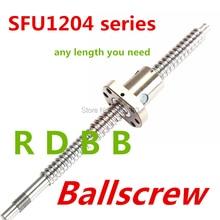 SFU1204 385 ミリメートル 535 ミリメートル 685 ミリメートルボールねじ + 1 ピース SFU1204 アンチバックラッシュボールナットと BK/BF10 機械加工終了