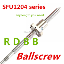 SFU1204 385mm 535mm 685mm BallScrew + 1pc SFU1204 Anti Backlash Ball Nut with BK/BF10 end machined