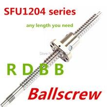 Sfu1204 385mm 535mm 685mm ballscrew + 1pc sfu1204 anti porca de bola de folga com extremidade bk/bf10 feito à máquina