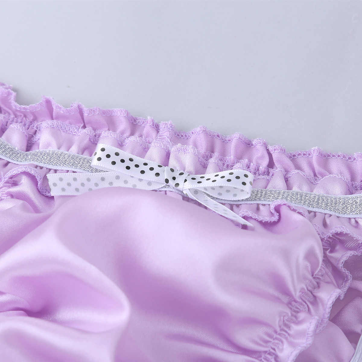 3eefdc43b ... iiniim Mens Lingerie Soft Triangle Panties Shiny Ruffled Frilly Low  Rise Stretchy Sissy Bikini Briefs Underwear ...