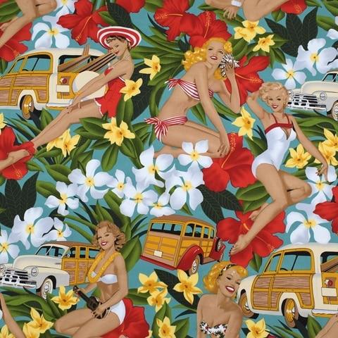 Tingimento de Tecido para o Vestido Vestido de Verão de Algodão Telas por Metros Flor Branca Carro Monroe Reativa de Verão de Algodão Stretch au Tissu Metro Vestido Diy Tela