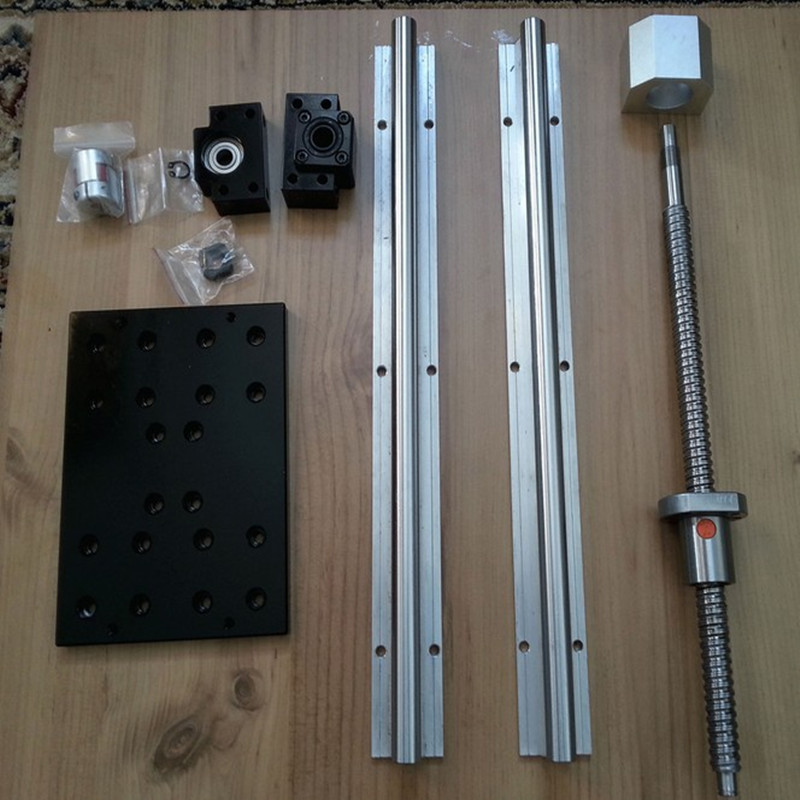 slide line table nc module of linear displacement of coordinates table RM1605 SFU1605 565mm linear SBR16