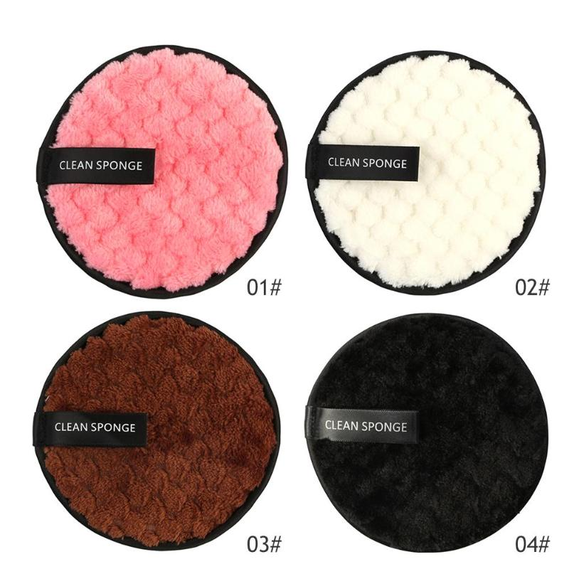 1PC Reusable Cotton Pads Make up Facial Remover Washable Wipe Pads Nail Art Cleaning Pads Soft Plush Face Washing Sponge 1