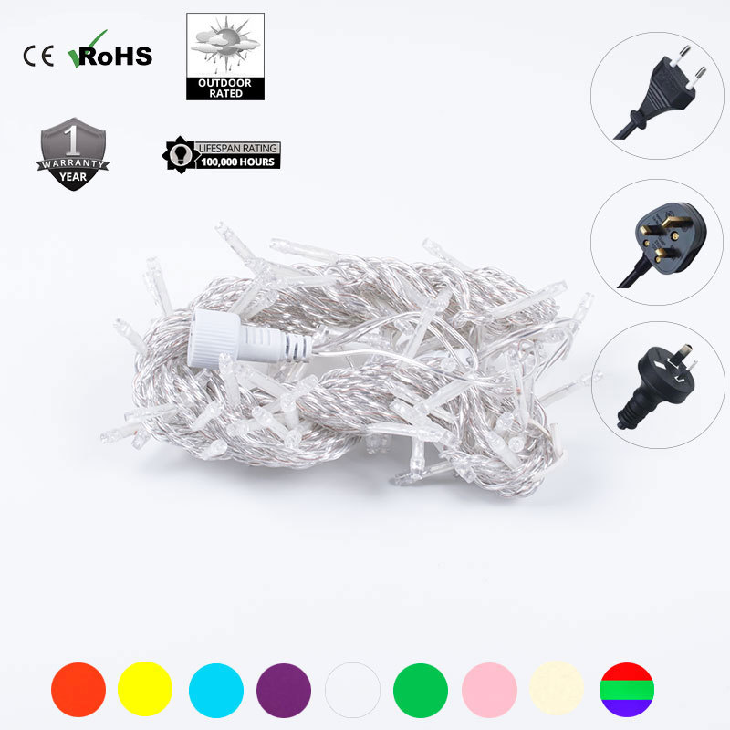 Купить с кэшбэком Length 32.8 ft 100 LEDs  connectable string light christmas decoration  lighting chains party decoration holiday fairy lights