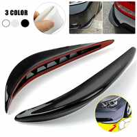 1Pair Universal Rubber Car Bumper Corner Protector Stickers Guards Buffer Trim Molding Anti-Scratch Protection Strip Car Styling