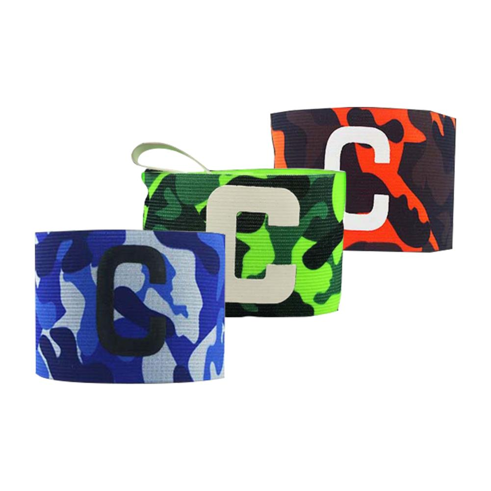 2019 New Soccer Football Captain Armband Elastic Adjustable Green Camouflage Breathable Arm Band Leader Competition Armband