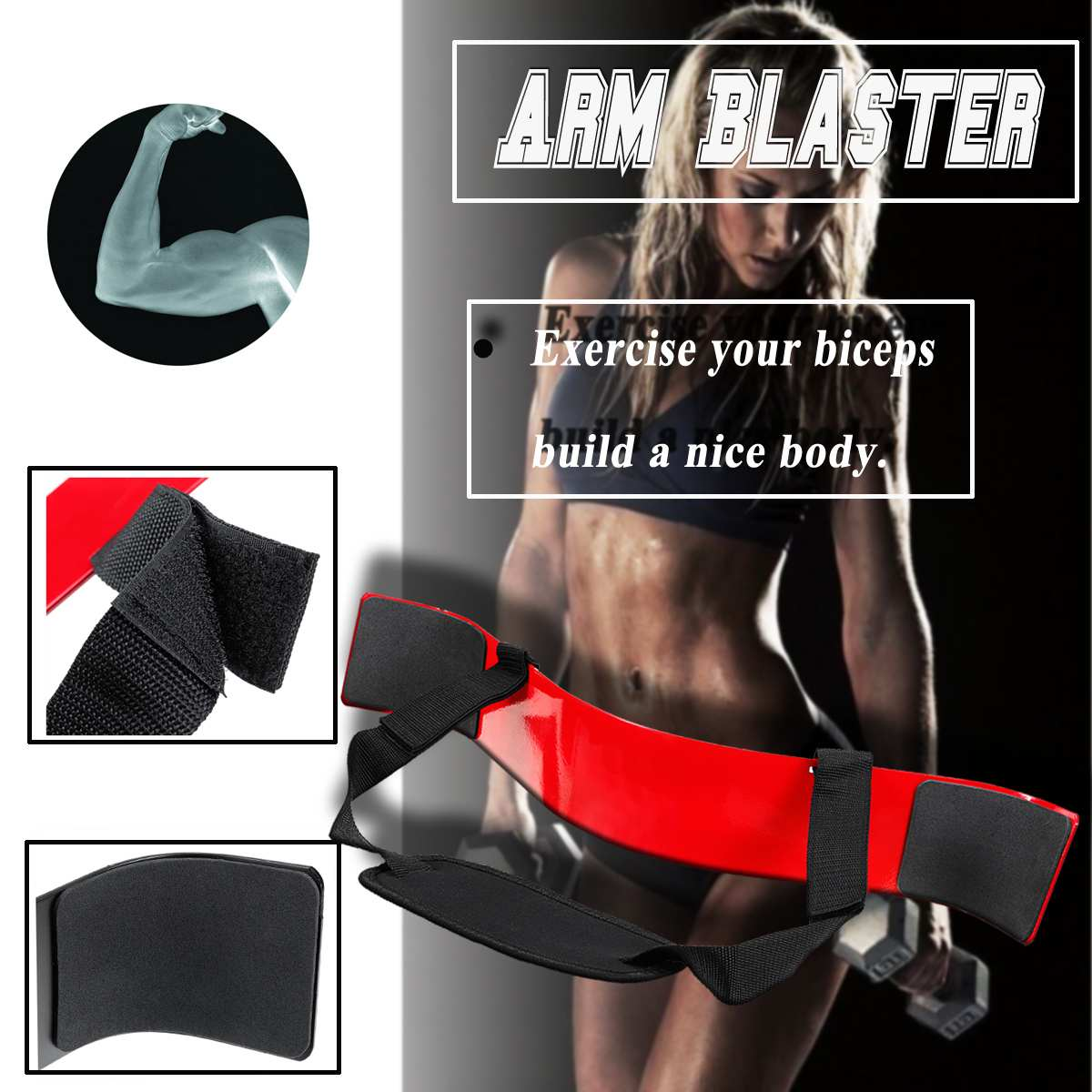 Heavy Duty Arm Isolator Body Building Bomber Bicep Curl Triceps Curl Triceps Muscle Training Fitness Gym Equipmen