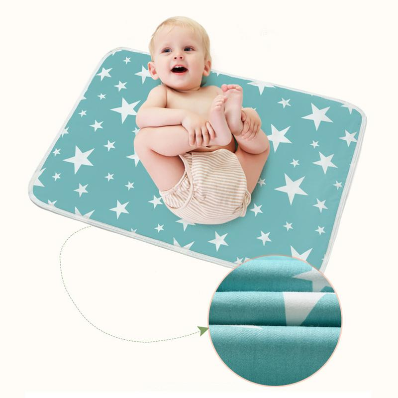 Motivated New Baby Diaper Changing Pad Baby Cartoon Cotton Breathable Waterproof Foldable Diaper Mattress Pad 35 45 Cm/13.78 17.72 In Good Companions For Children As Well As Adults