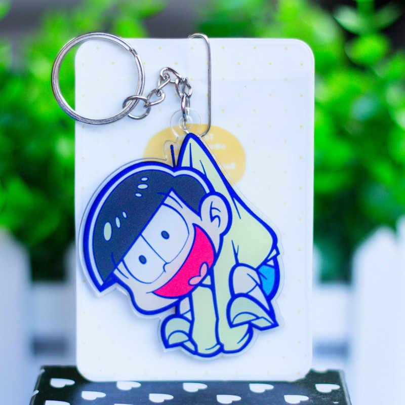 Osomatsu san พวงกุญแจของเล่น Matsuno Osomatsu Karamatsu Choromatsu Ichimatsu Jyushimatsu รูปโทรศัพท์สายรัดอะคริลิค peadant