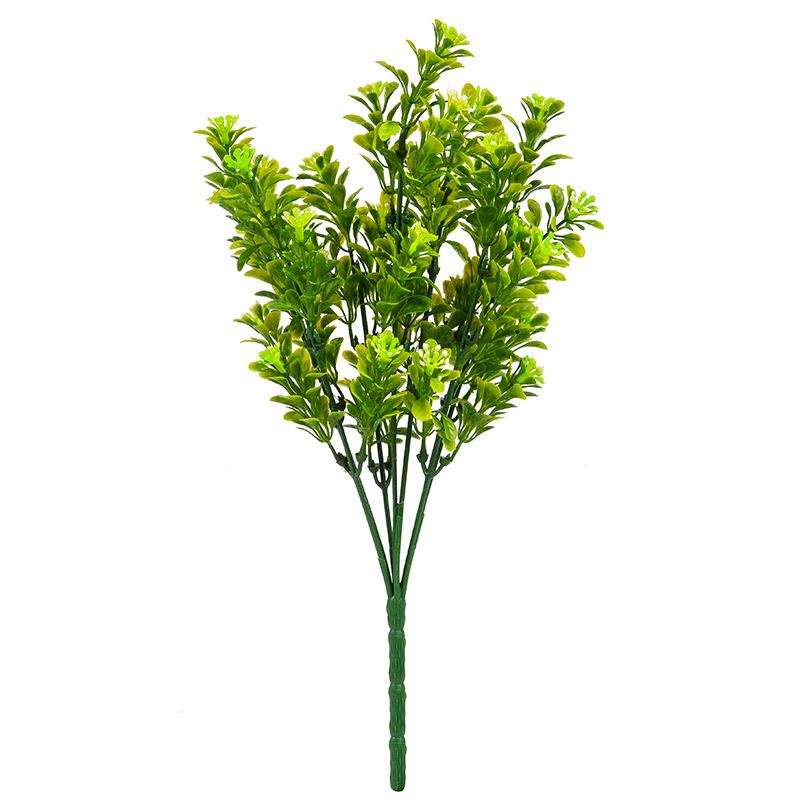 7-fork Milanese grass simulated lawn plant background wall green three-dimensional pseudo-green balcony decoration