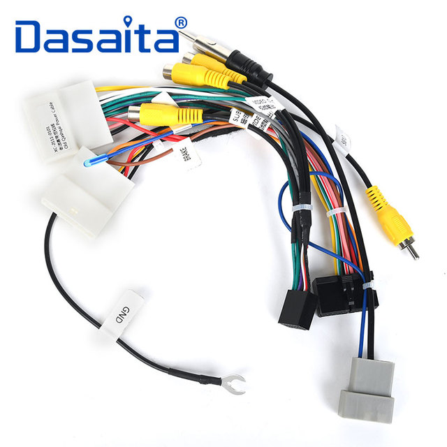 dasaita car dvd audio cable harness adapter for nissan qashqai 2008 2009  2010 2011 2012 support