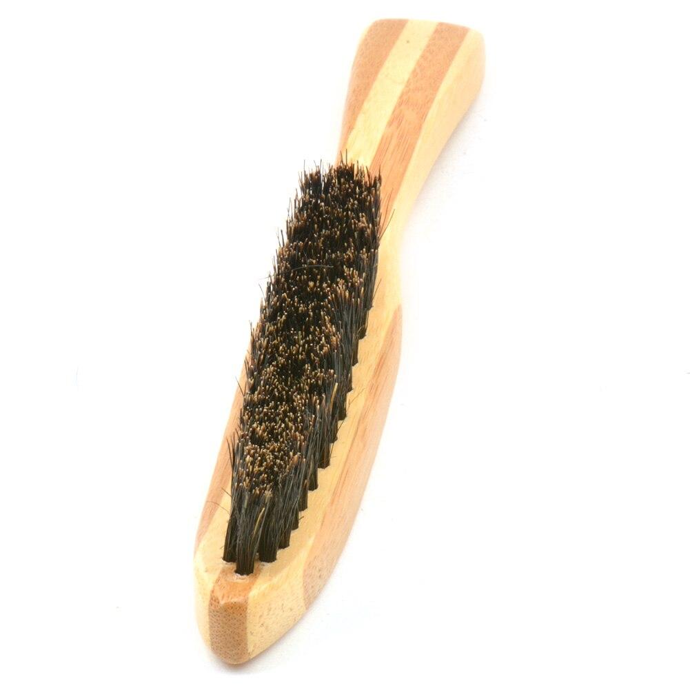 Image 5 - Beard Brush Boar Bristle for Men's Mustache Shaving Comb Face Massage Facial Hair Cleaning Brush Beech Long Handle-in Shaving Brush from Beauty & Health