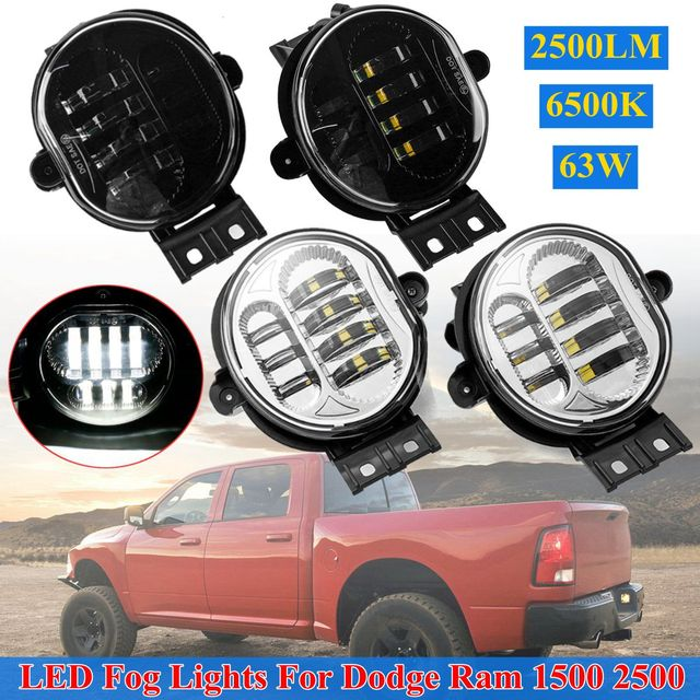 For Dodge Ram 1500 2002 2008 2500 3500 2003 2009 Durango 2004 06 2 Colors Front Led Car Per Fog Light Lamp Styling
