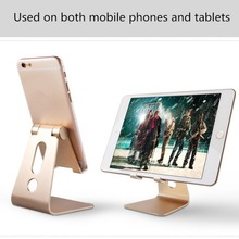 Aluminium Alloy Desktop Mobile Phone Holder Hand Free Desk Stand Cell Phone Mount For iPhone 6 7plus iPad For Samsung Note8 цена и фото