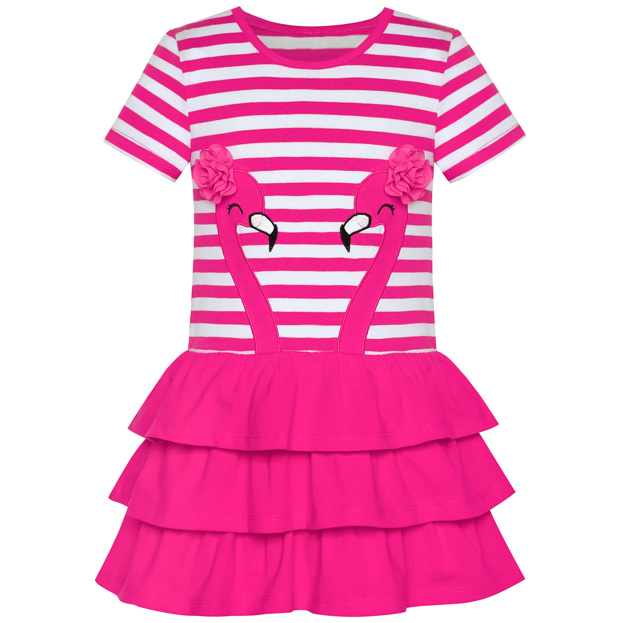 Girls Dress Cotton Short Sleeve Casual Embroidered Bird Flower 2019 Summer Princess Wedding Party Dresses Kids Clothes Pageant hot top summer girls soft cotton solid dress casual ruffles o neck clothes cute short sleeve dresses for princess girl party