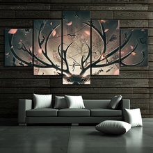 5 Piece Abstract Drawing Picture Printed Tomb Raider Video Game Poster Painting for Bedroom Decor
