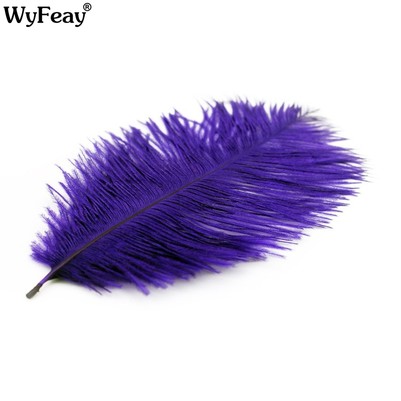 Wholasale Plurple Ostrich Feathers for Crafts 15 70cm Carnival Costumes Party Wedding Decorations Natural Feather Plumas Plumes in Feather from Home Garden