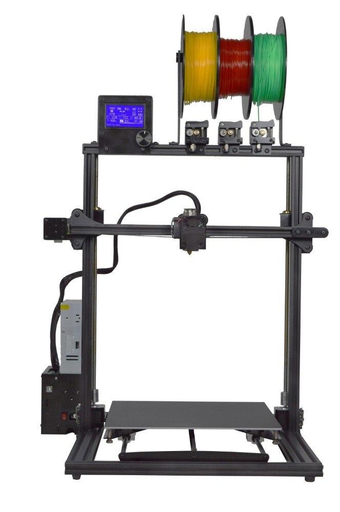 ZONESTAR 2019 Nouvelle Mise À Jour grande taille 3 Extrudeuse Multi Couleur Full Metal Cadre En Aluminium Montage Rapide 3D Imprimante kit de bricolage Bateau Libre - 5