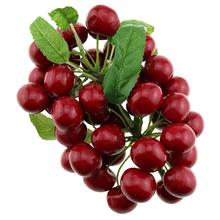 Gresorth Fake Fruit Bunch Decoration Artificial Red Cherry Realistic Food Home Kitchen Shop Party Christmas Display